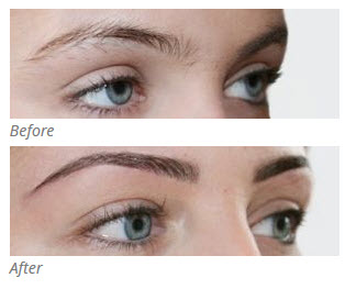 Eyebrow tinting before and after